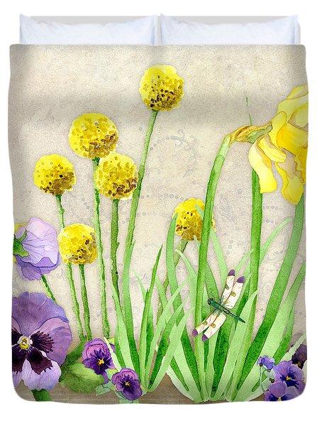 The Promise Of Spring - Dragonfly Duvet Cover