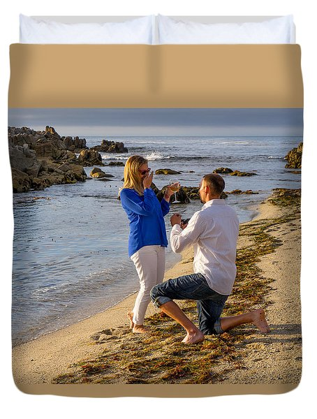 The Proposal Duvet Cover by Derek Dean