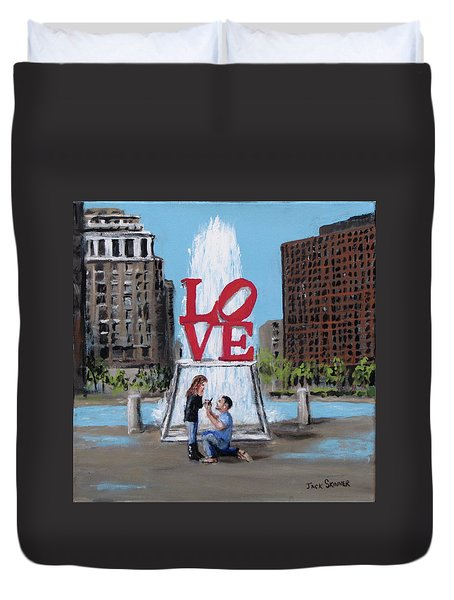 The Proposal Duvet Cover by Jack Skinner
