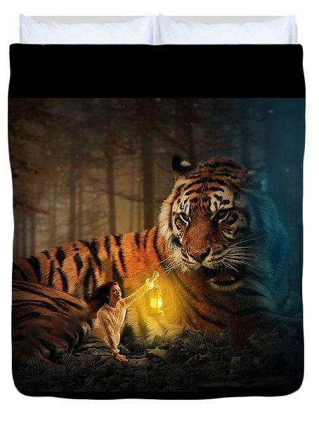 The Protector Duvet Cover by Davandra Cribbie