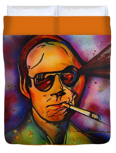The Psycho-delic Suicide Of The Tambourine Man Duvet Cover by Eric Dee