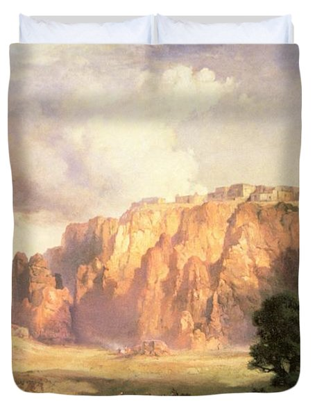The Pueblo Of Acoma In New Mexico Duvet Cover
