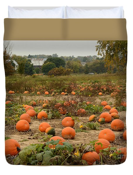 The Pumpkin Farm Two Duvet Cover