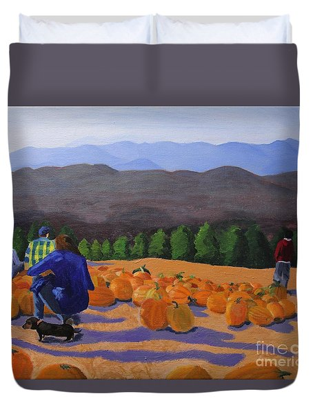 The Pumpkin Patch Duvet Cover