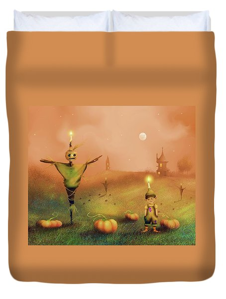 The Pumpkin Thief Duvet Cover