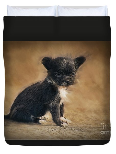 The Puppy Duvet Cover by Billie-Jo Miller