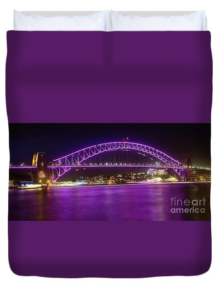 Duvet Cover featuring the photograph The Purple Coathanger By Kaye Menner by Kaye Menner