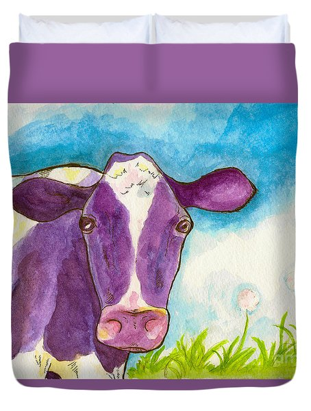 The Purple Cow Duvet Cover