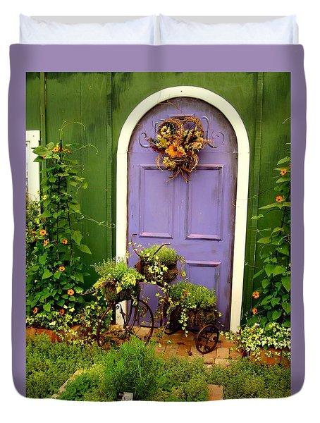 The Purple Door Duvet Cover