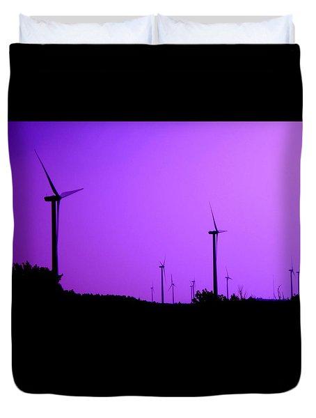The Purple Expanse Duvet Cover