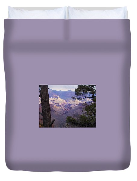 Duvet Cover featuring the photograph The Purple Grand by Marna Edwards Flavell
