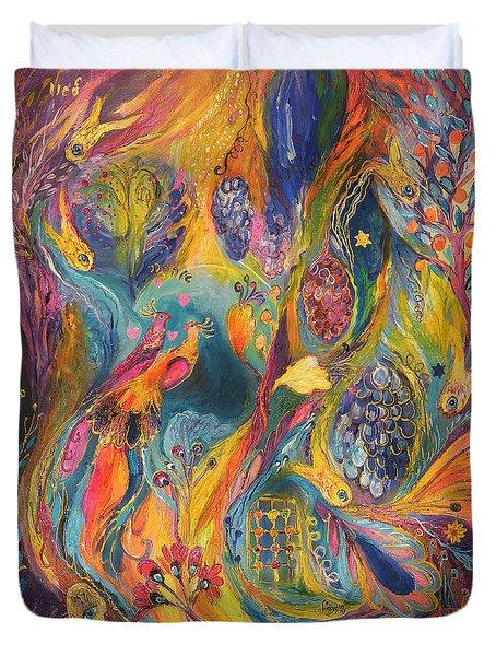The Purple Rain Duvet Cover by Elena Kotliarker