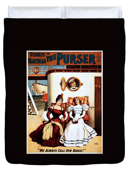 The Purser, Theatrical Poster, 1898 Duvet Cover