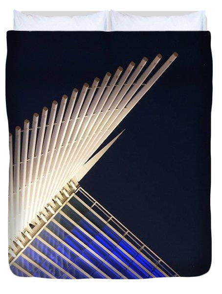 Quadracci Pavilion At Night Duvet Cover