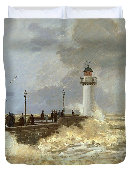 The Quay At Le Havre Duvet Cover