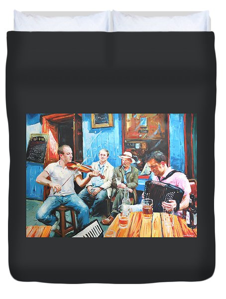 The Quay Players Duvet Cover by Conor McGuire