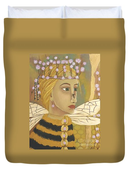 The Queen Bee's Honeycomb Duvet Cover