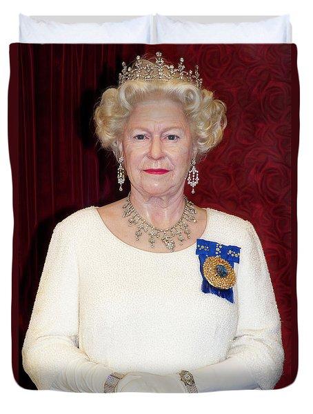 Duvet Cover featuring the photograph The Queen Elizabeth II  by Miroslava Jurcik