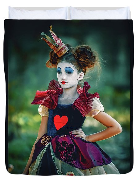 The Queen Of Hearts Alice In Wonderland Duvet Cover