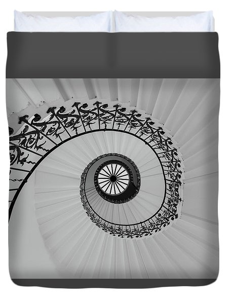 Duvet Cover featuring the photograph The Queens House by David Chandler