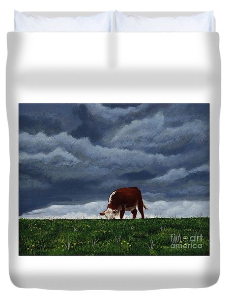 The Quiet Before The Storm Duvet Cover