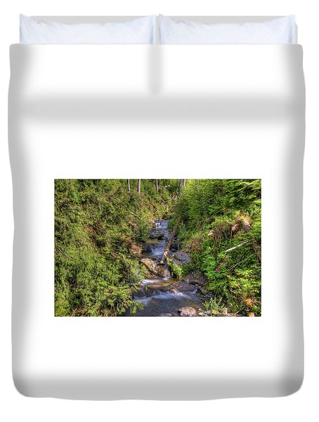 The Quinault Stream 2 Duvet Cover