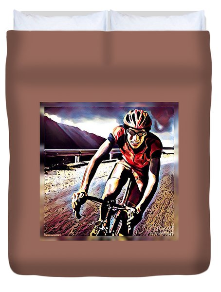 The Race Duvet Cover by Maria Watt