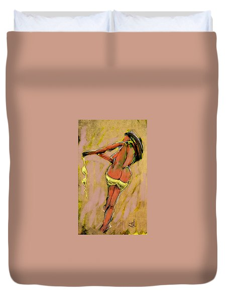 The Race To Freedom Duvet Cover by Jim Vance