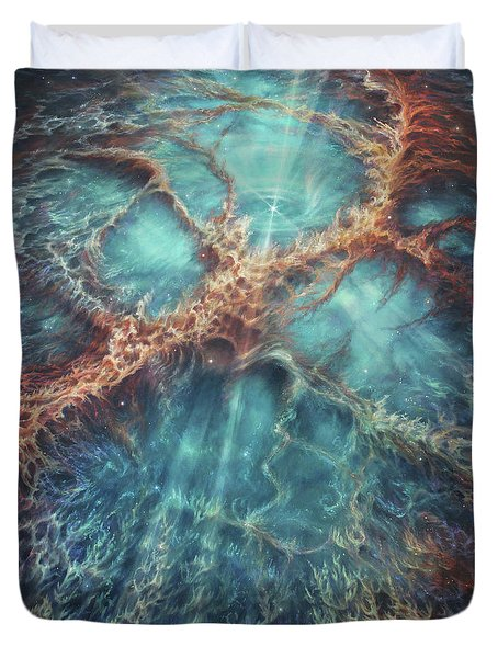 The Racing Heart Of The Crab Nebula Duvet Cover