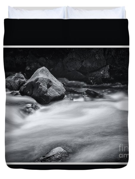 The Raging Merced River Duvet Cover