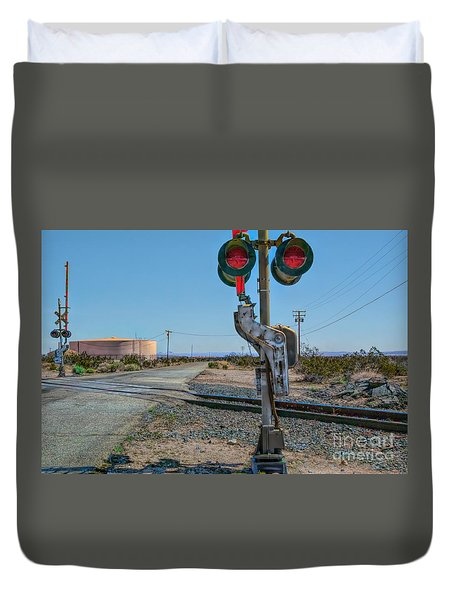 The Railway Crossing Duvet Cover