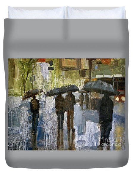 The Rain Came Duvet Cover
