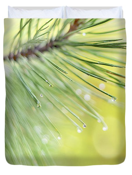 Duvet Cover featuring the photograph The Rain The Park And Other Things by John Poon
