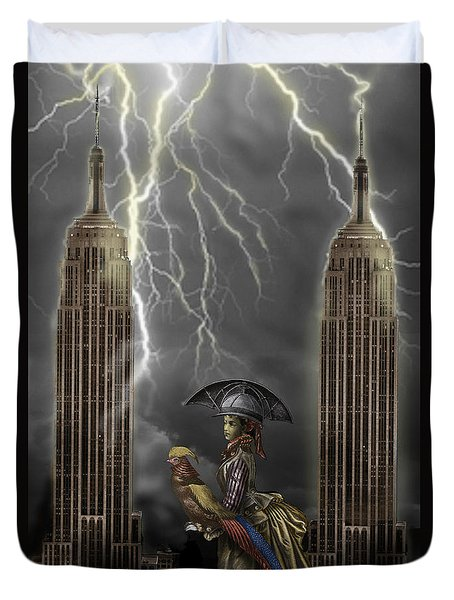 The Rainmaker Duvet Cover by Larry Butterworth