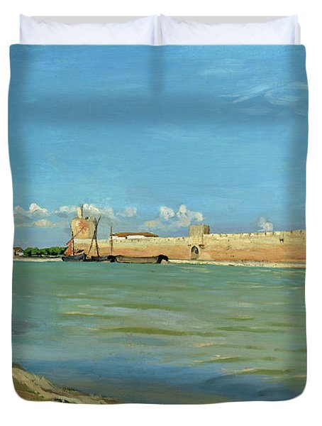 The Ramparts At Aigues Mortes Duvet Cover