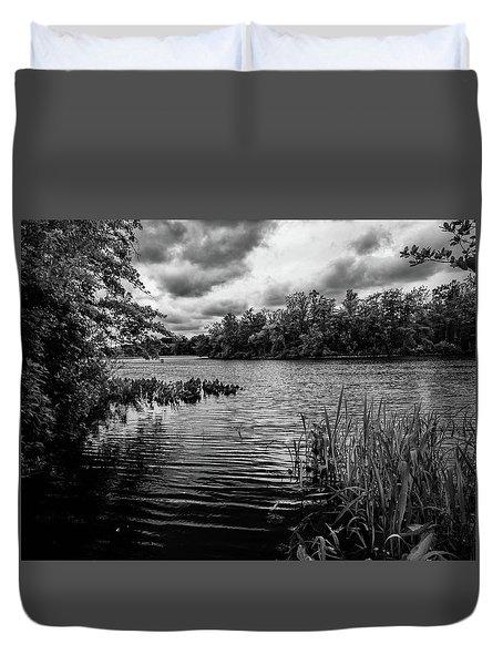 The Rancocas River Landscape Duvet Cover