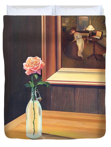 The Rape Duvet Cover by Patrick Anthony Pierson