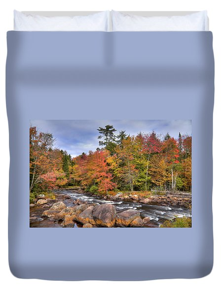Duvet Cover featuring the photograph The Rapids On The Moose River by David Patterson