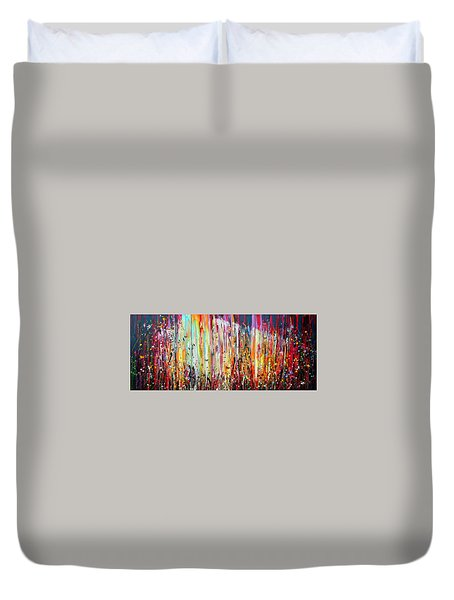 The Raspberry Patch Large Painting Duvet Cover