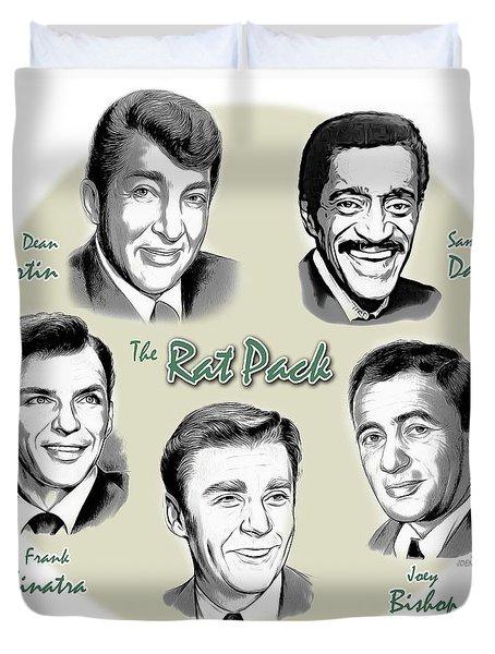 The Rat Pack Duvet Cover by Greg Joens