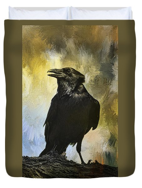 The Raven Duvet Cover by Barbara Manis