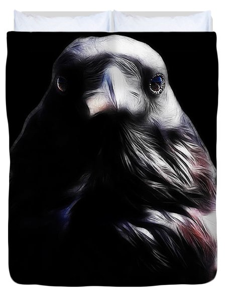 The Raven In My Dreams Duvet Cover by Wingsdomain Art and Photography