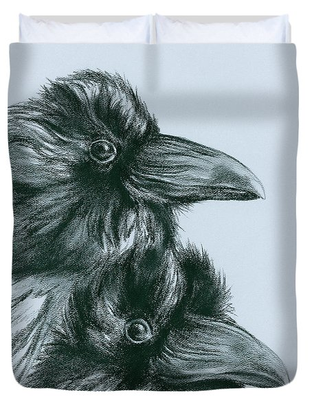 The Ravens Of Odin Duvet Cover