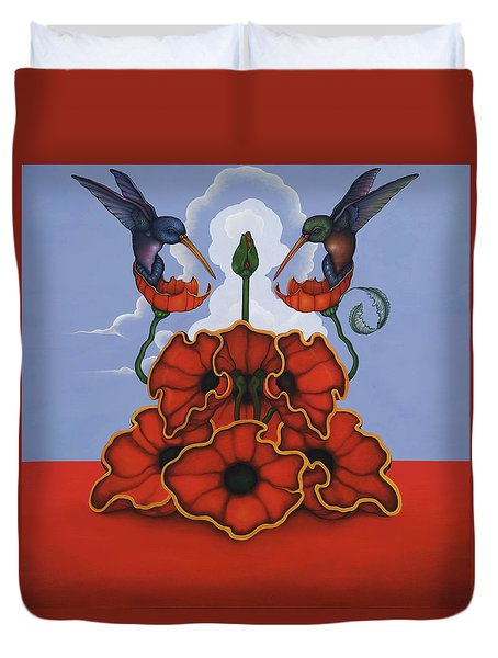 The Ravishers Duvet Cover by Andrew Batcheller