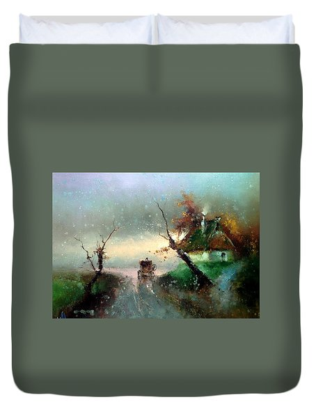 The Rays Of The Morning Sun Duvet Cover