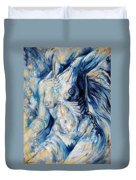 The Re-invention Of The Human Figure II Duvet Cover by Darwin Leon