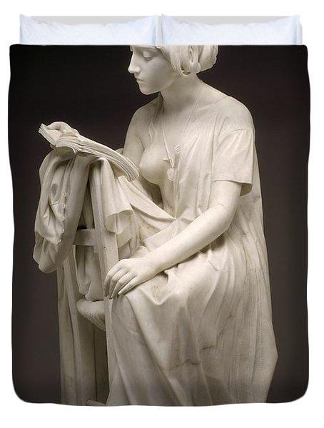 The Reading Girl - La Leggitrice Duvet Cover