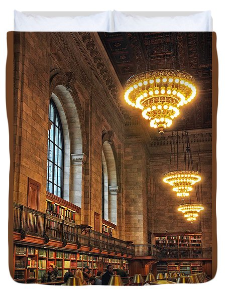 Duvet Cover featuring the photograph The Reading Room by Jessica Jenney