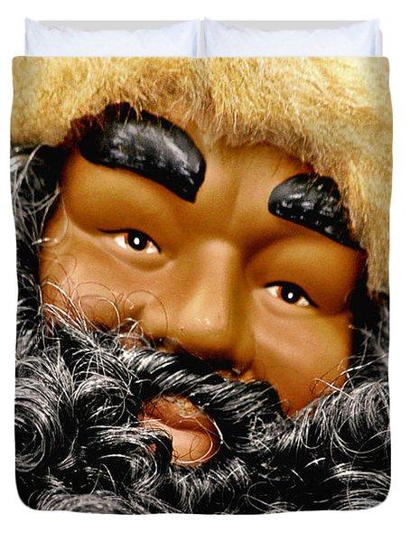 The Real Black Santa Duvet Cover