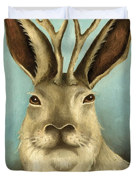 The Real Jackalope Duvet Cover